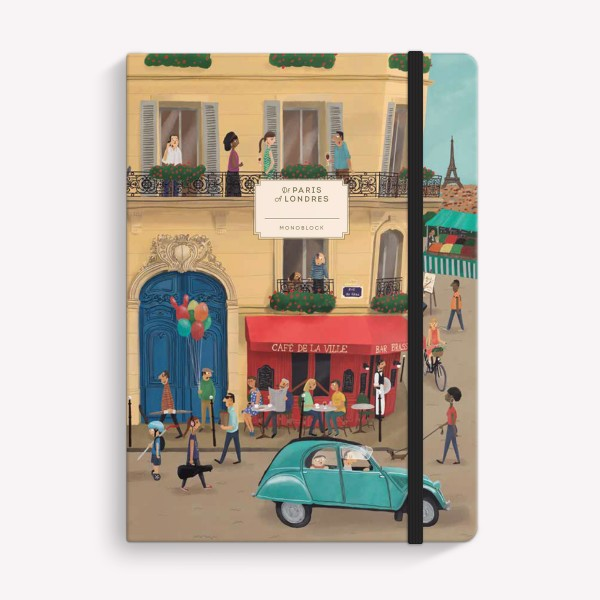 Paris-Londres Sewn Medium Notebook