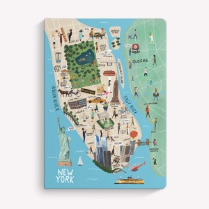 New York Sewn Medium Notebook