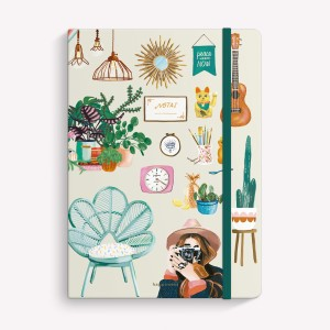 Mi tiempo es Oro Sewn Medium Notebook