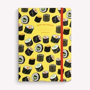 Cuaderno Cosido Mediano Tokyo Sushi Liso