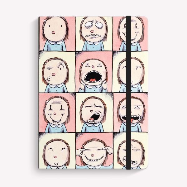 Stitched Notebook A5 Plain Macanudo Enriqueta Caras