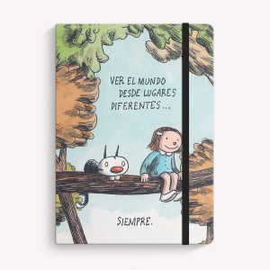 Lugares Diferentes Sewn Medium Notebook