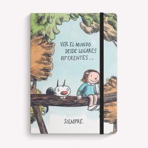 Lugares Diferentes Sewn Medium Notebook
