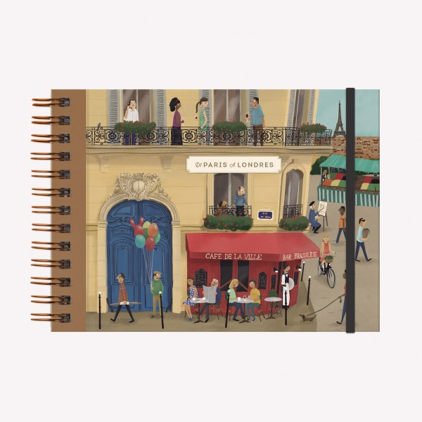 Cuaderno de Dibujo A5 Apaisado De Viaje De París a Londres