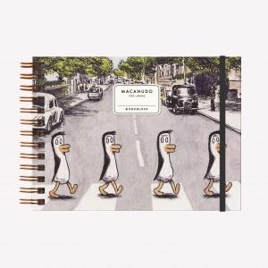 Pingüinos Beatles Notebook