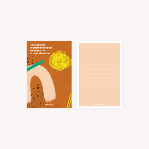 Happimess Felicidades Postcard