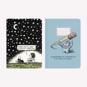 Noche Estrellada + Olga Pocket Notebook Set x2