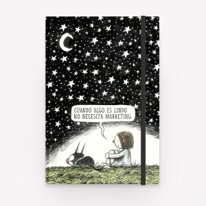 Cuaderno Cosido Tapa Dura Noche Estrellada Liso