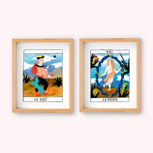 Wall art pack x2 Le Mat - Le Monde
