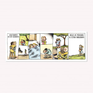 Abrazos en el Mundo Magnetic Comic