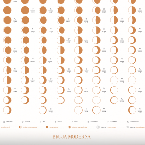 Moon Calendar 2019 Terracota