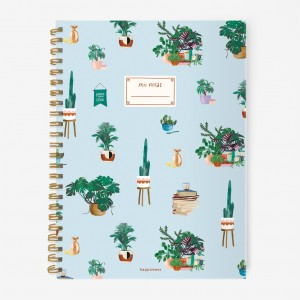 Plantas Hardcover Large Notebook