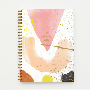 Gran Quilombo Feliz Plain Hardcover Large Notebook
