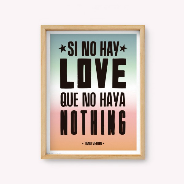 Wall Art Si No hay Love Que no haya Nothing