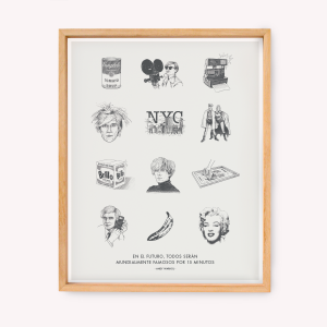 Wall Art Warhol Drawings