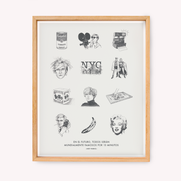 Wall Art Warhol Drawings