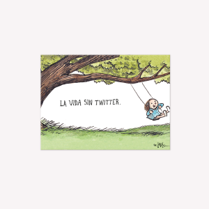 Life without Twitter Magnetic Frame