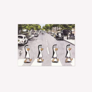 Beatle Penguins Magnetic Comic Vignette
