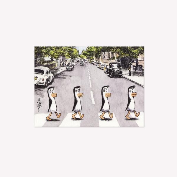 Beatle Penguins Magnetic Comic Vignette