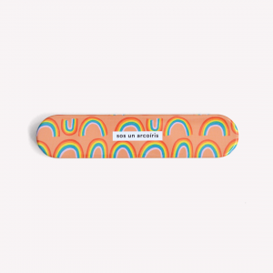 Sos un arcoíris  Metallic Pencil Case
