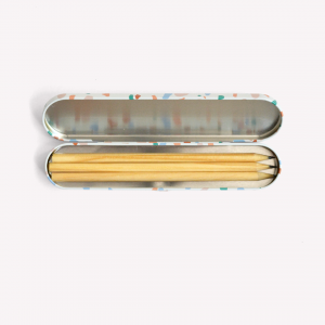 Amor Propio Metallic Pencil Case