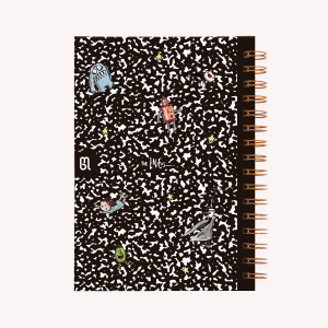 Composition Book Spiral Hardcover Ruled Notebook
