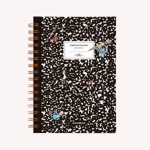 Composition Book Spiral Hardcover Ruled Medium Notebook