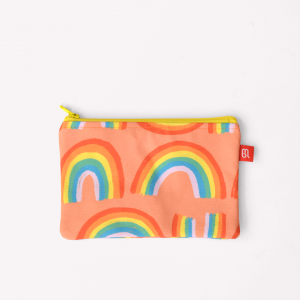 Big Rainbow Canvas Pencil Pouch 22x15