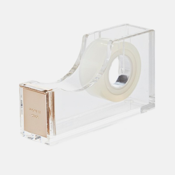 Tape Dispenser Clear Acrylic  and Metal