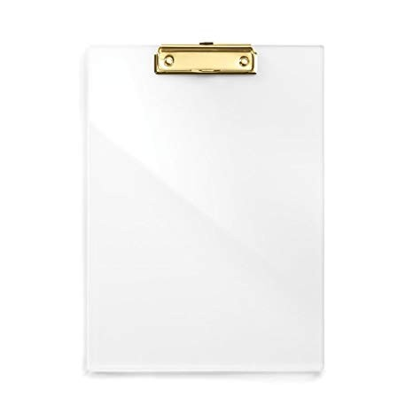 Clipboard Clear Acrylic Gold Metalic