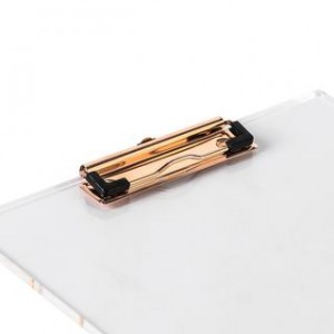 Clipboard de Acrilico y Metal Oro