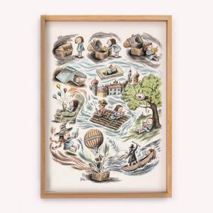Poster Las Aventuras de Enriqueta 50x70
