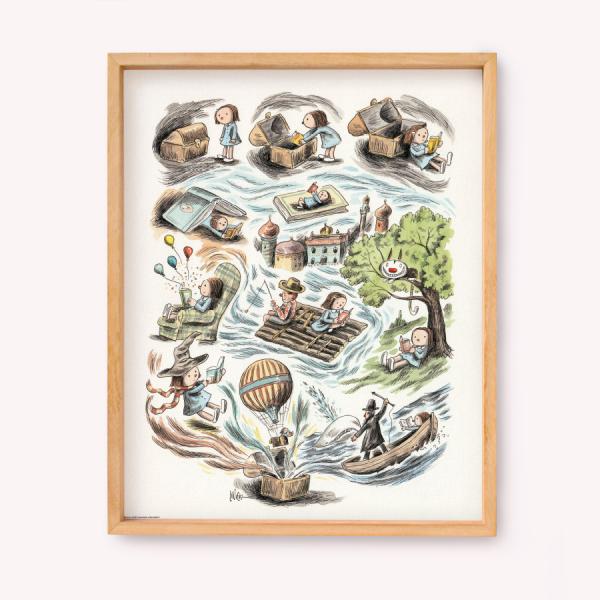 Las aventuras de Enriqueta Posters 39x49