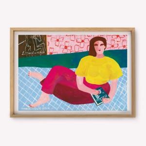Póster 30x30 Katz por Maria Luque
