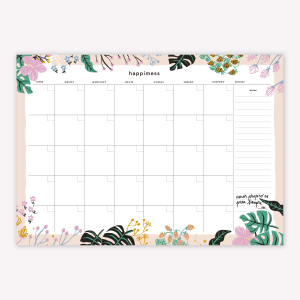 Happimess Monthly Planner