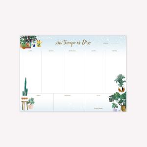Mi tiempo Plantas Happimess Weekly Planner