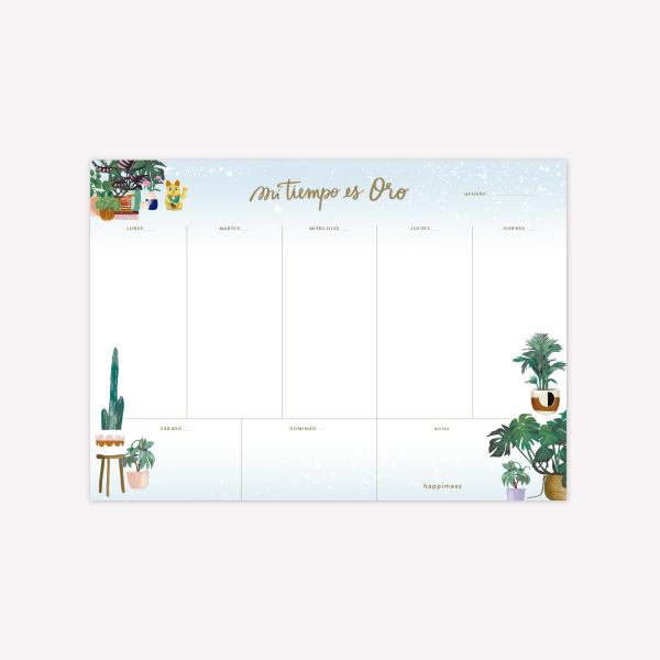 Weekly Planner Happimess Mi tiempo Plantas