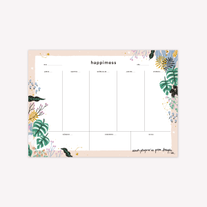 Amor propio Happimess Week Planner