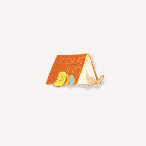 Happimess Leer es Mi Refugio Pin