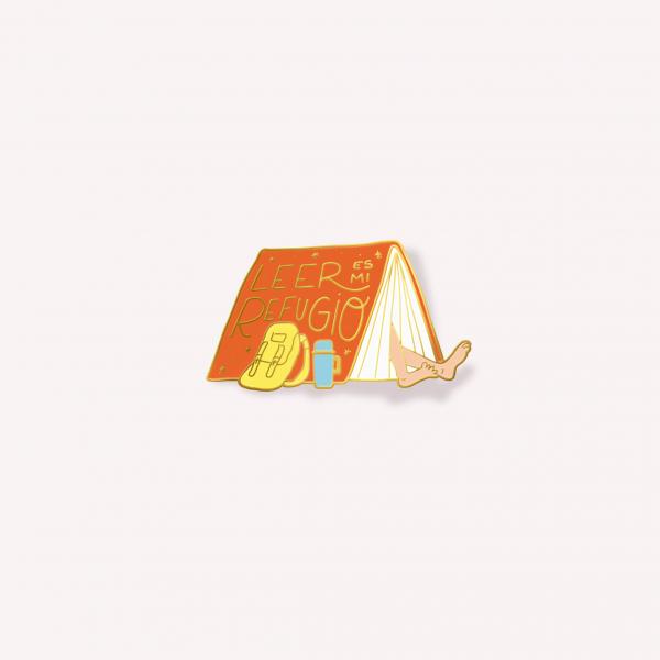 Leer es mi refugio Badge