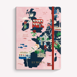 Europa Ruled Swen Medium Notebook