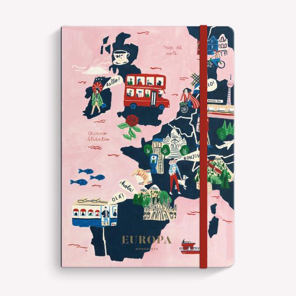 Europa Ruled Swen Medium Notebook