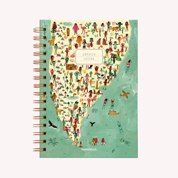Cuaderno Anillado Mediano America Latina Punteado
