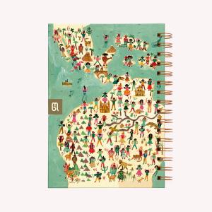 Cuaderno Anillado Mediano De Viaje America Latina Rayado