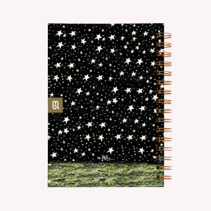 Noche Estrellada Medium Dotted Notebook