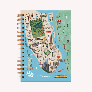 New York Medium Dotted Notebook