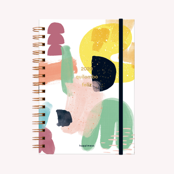 Quilombo Feliz A5 Journal 2020 2 days per pages