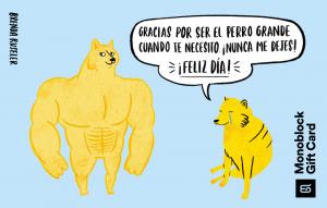 Gift Card Meme big dog - small dog